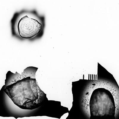 Volcán dormido, 2011 / reversed photogram on cotton paper / ca. 40,6 x 50,8 cm