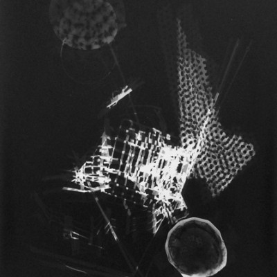 Lichtspiel 001, 2013 / photogram on silver gelatin paper / ca. 30,5 x 40,6 cm