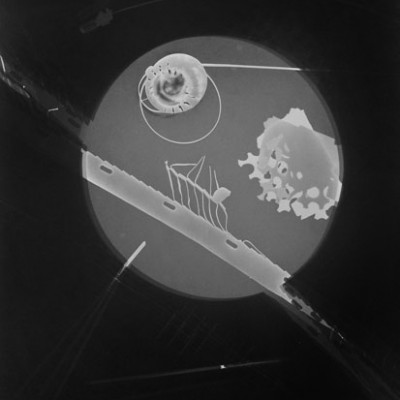 Lichtspiel 7, 2014 / photogram on silver gelatin paper / ca. 30,5 x 40,6 cm